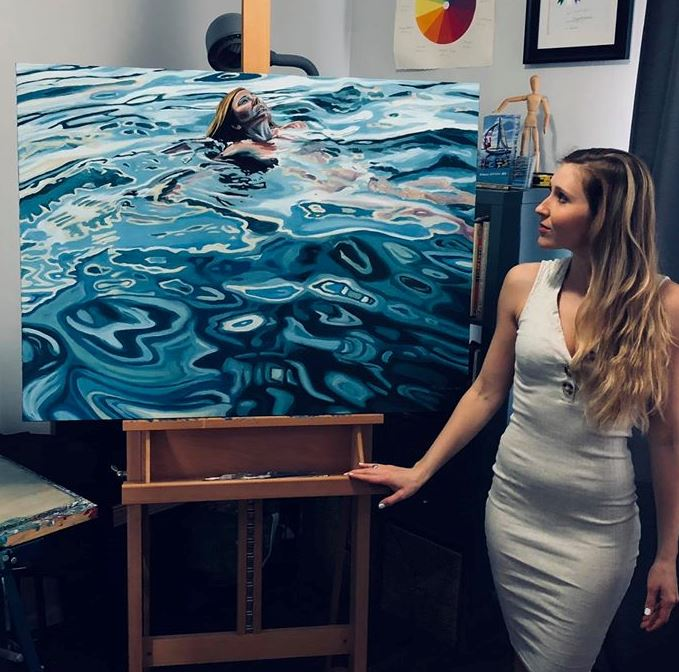 painting swimming brianne williams