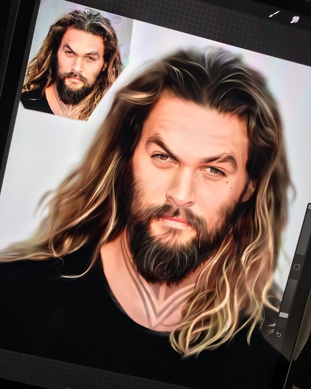 digital painting jason mamoa ylanast
