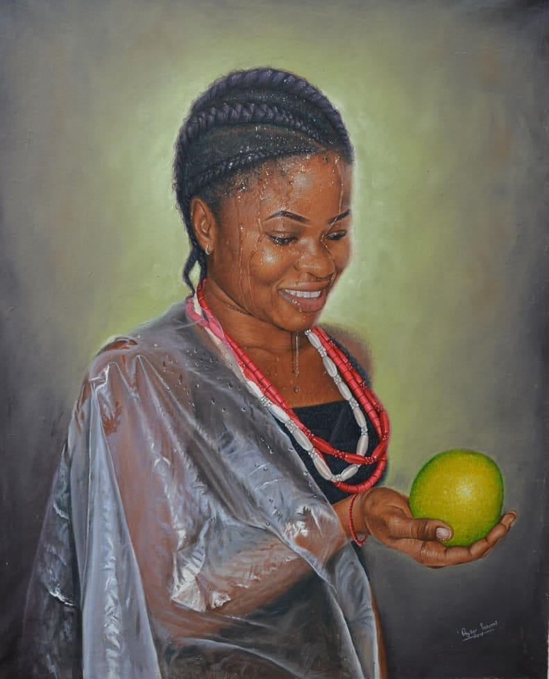 painting portrait fruit collins uchenna onyibor