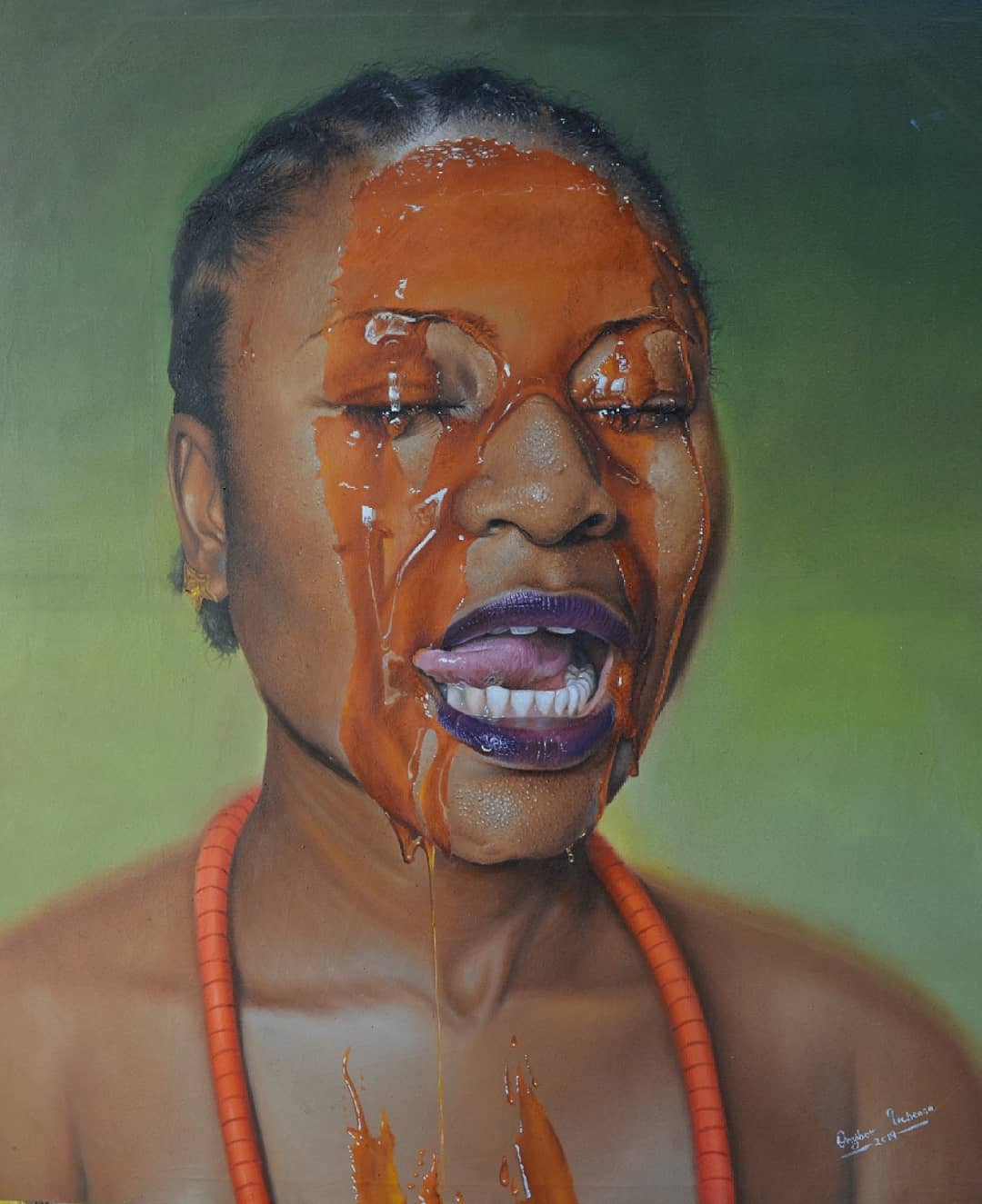 painting portrait juice collins uchenna onyibor