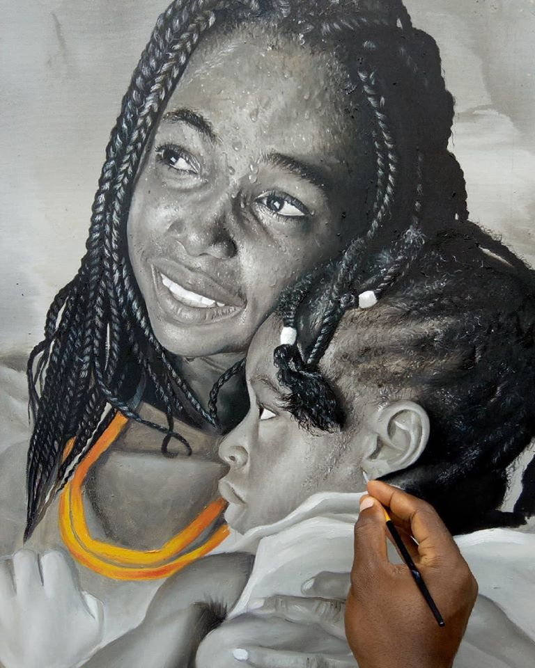 painting portrait love collins uchenna onyibor
