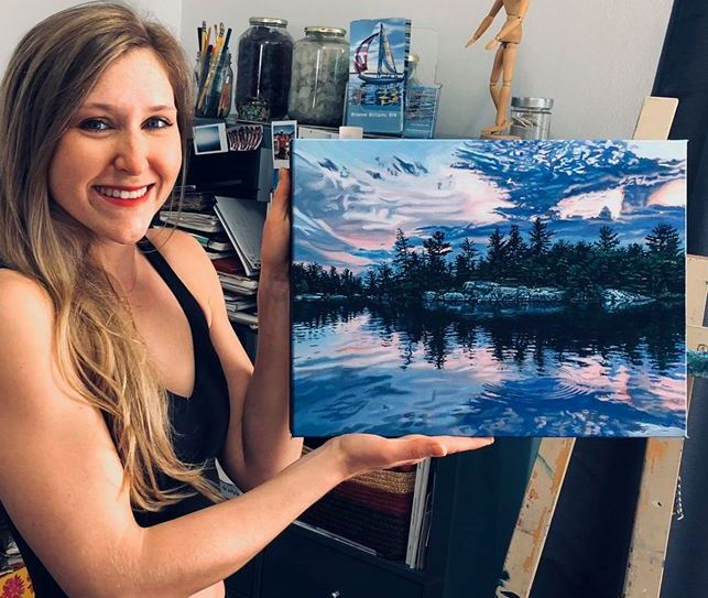 painting island water brianne williams