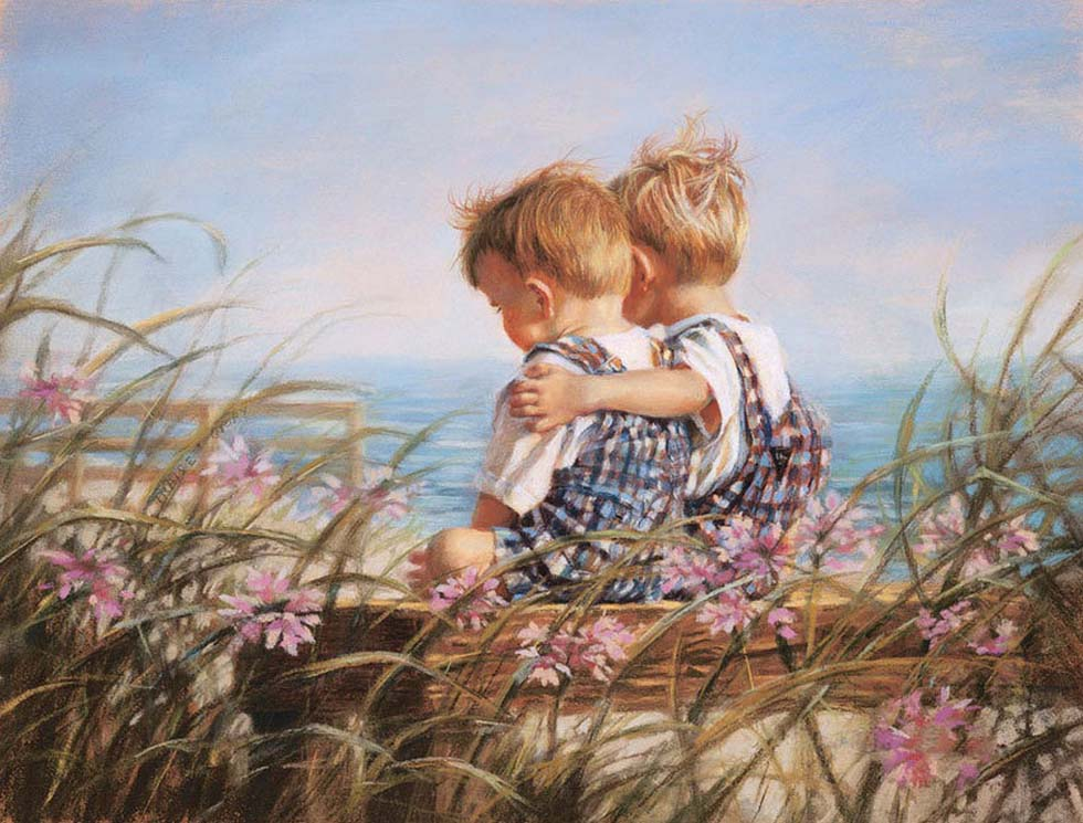 1 pastel painting twin brothers by kathy fincher