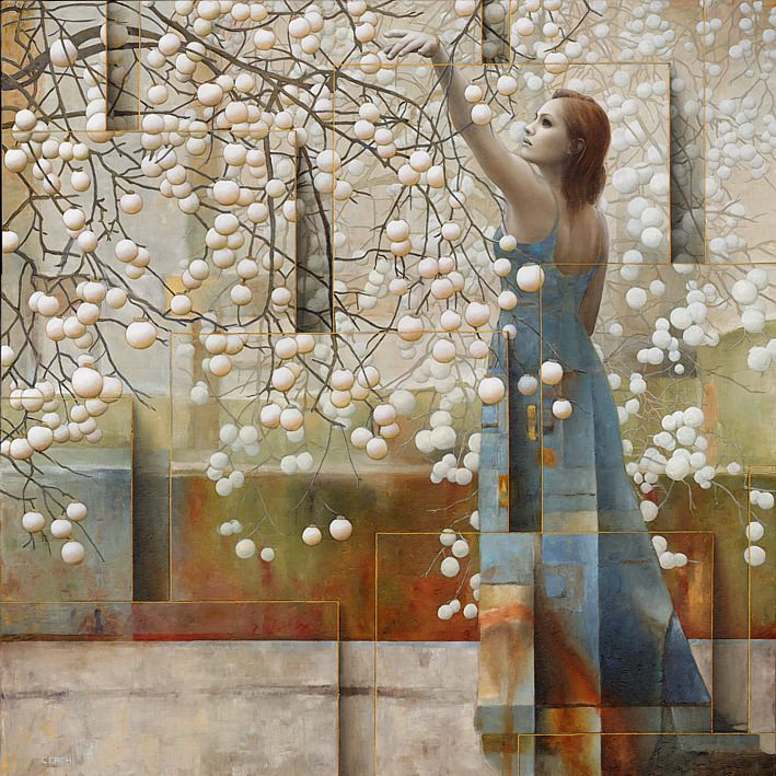 surreal oil painting women by sergio cerchi