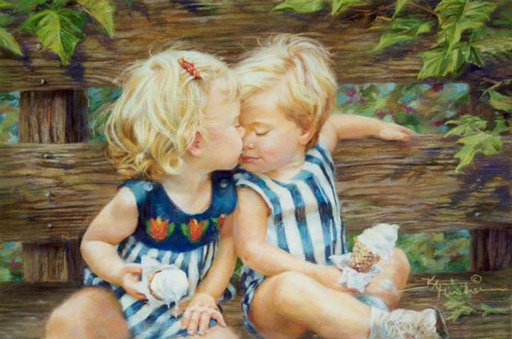 11 pastel painting lovely kiss by kathy fincher