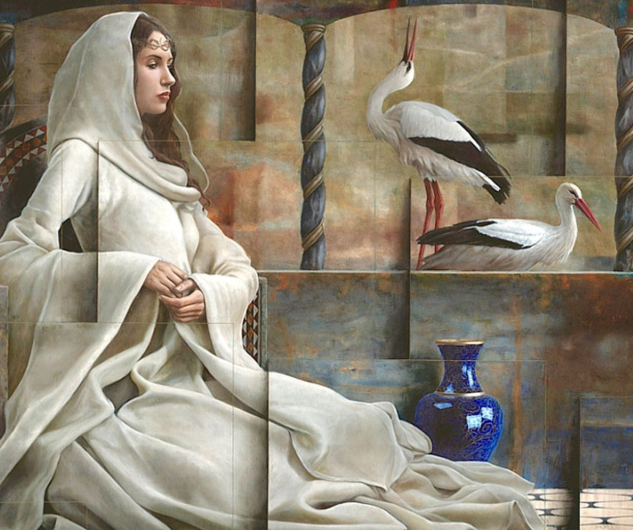 11 surreal oil painting woman by sergio cerchi