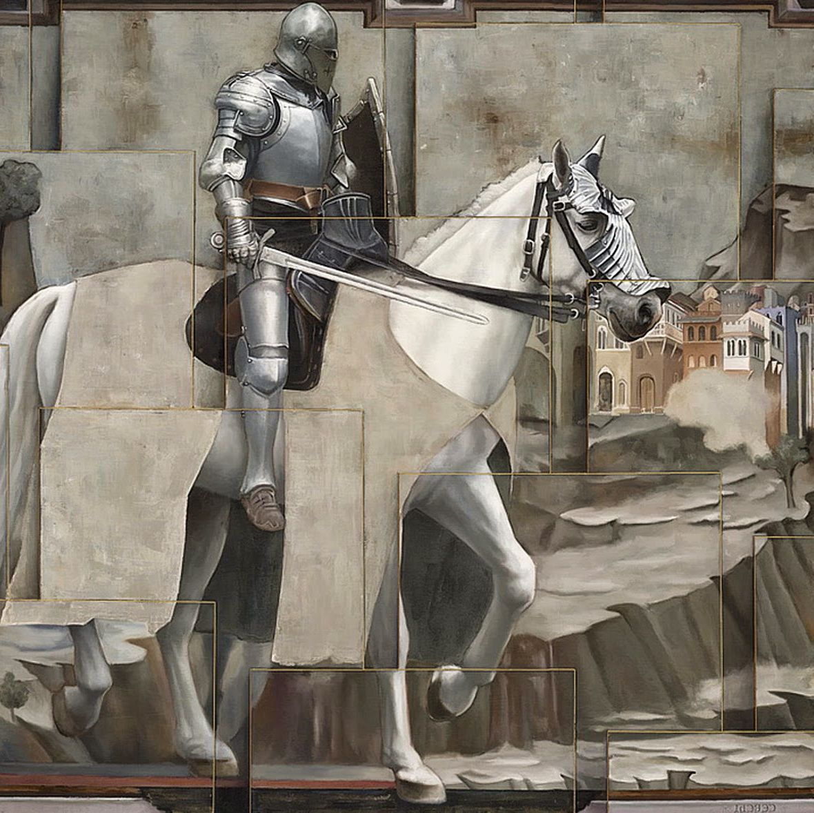 12 surreal oil painting warrior by sergio cerchi