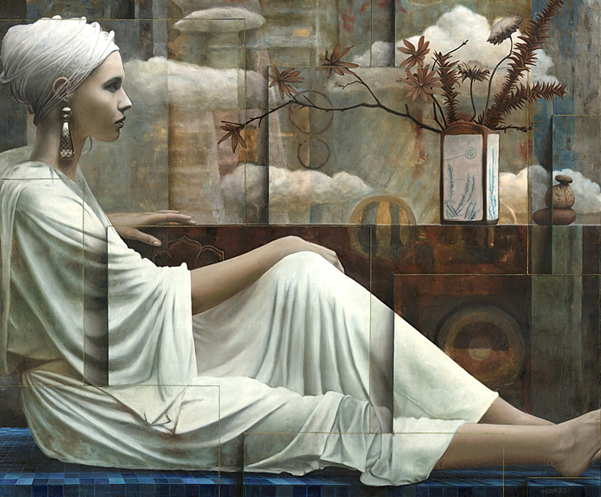13 surreal oil painting girl by sergio cerchi