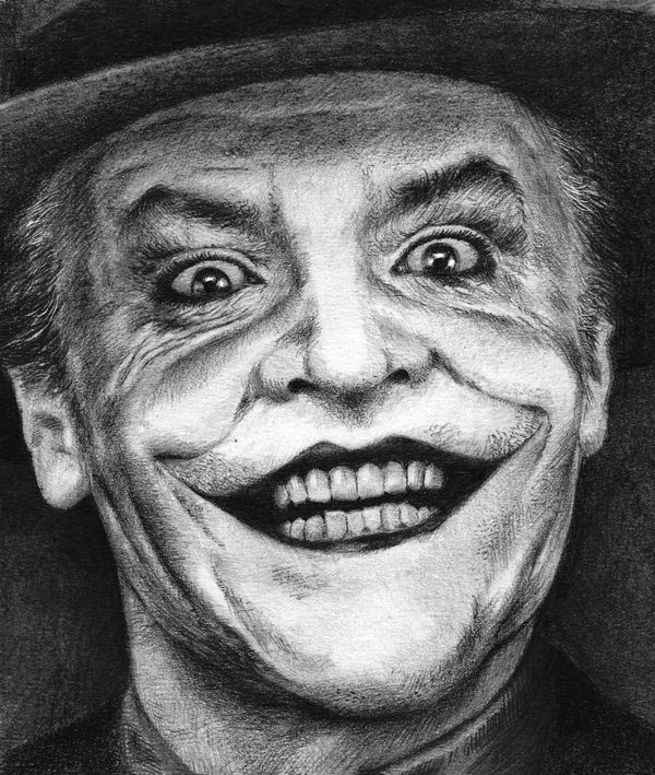graphite drawing joker by nick tortillon