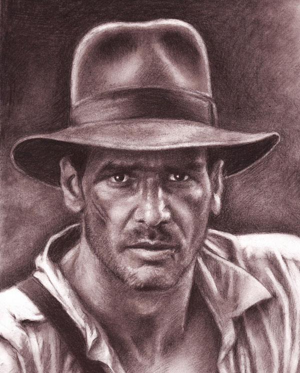 graphite drawing cowboy by nick tortillon