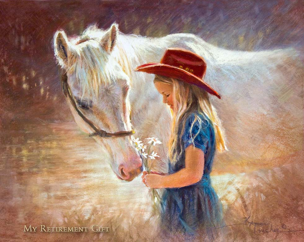 pastel painting horse by kathy fincher