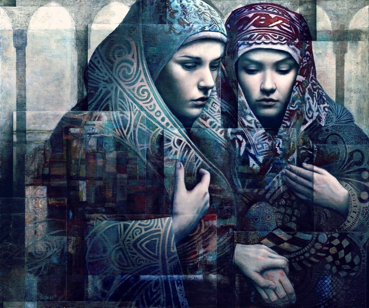 7 surreal oil painting women by sergio cerchi