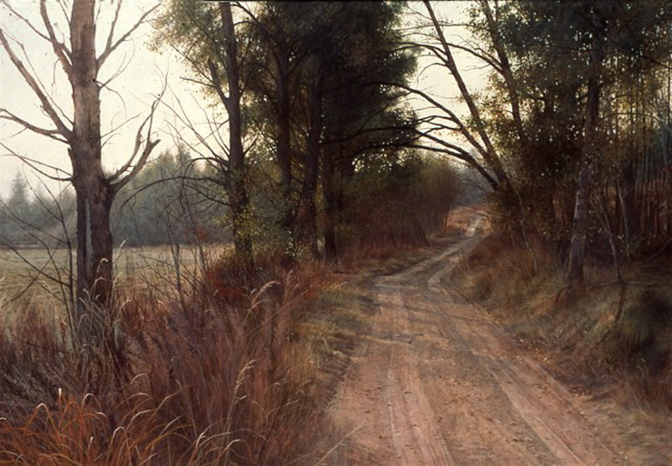 portrait watercolor painting road by stan miller