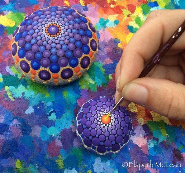 17 painted stones by elspeth mclean
