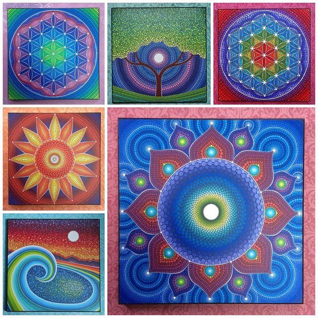 24 painted stones by elspeth mclean