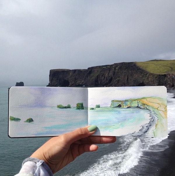 watercolor paintings by hannah jesus