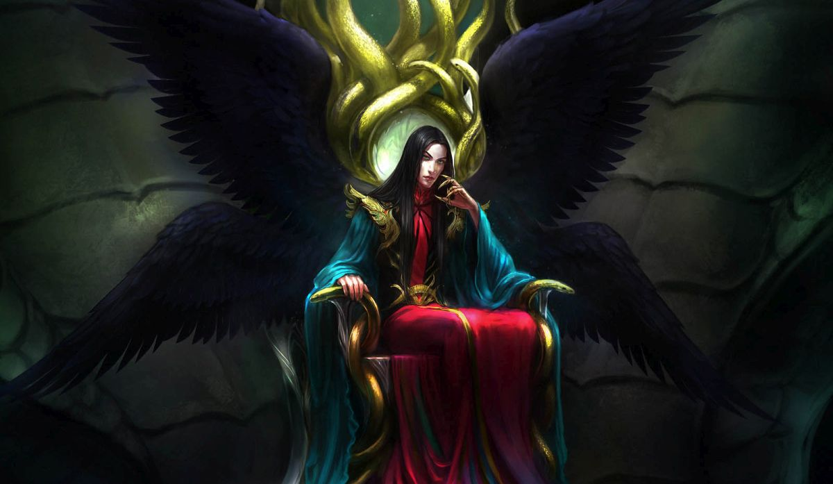 fantasy digital art throne anndr kusuriuri
