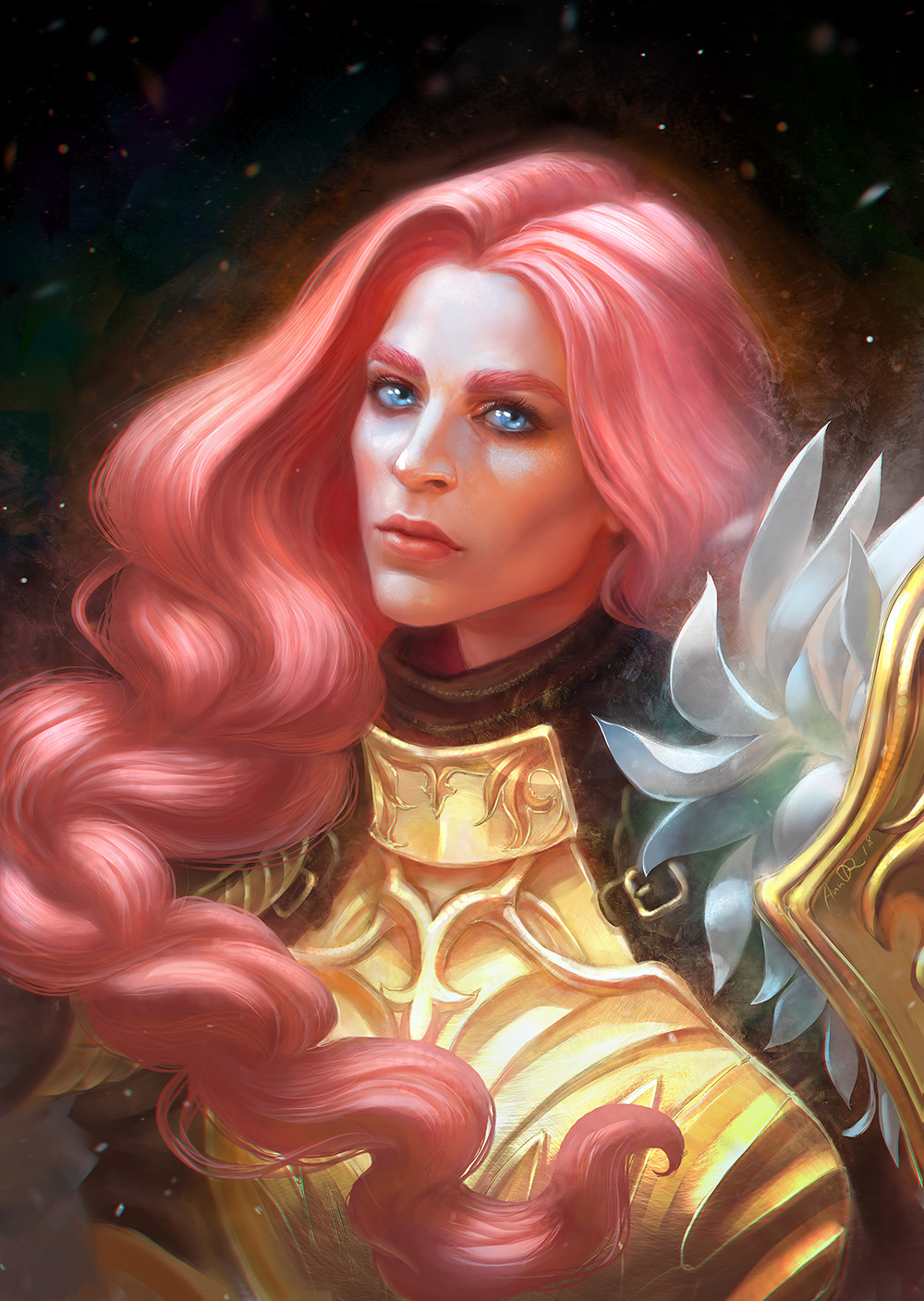 fantasy digital art valkyrie anndr kusuriuri