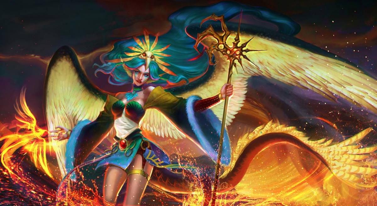 fantasy digital art volcano anndr kusuriuri