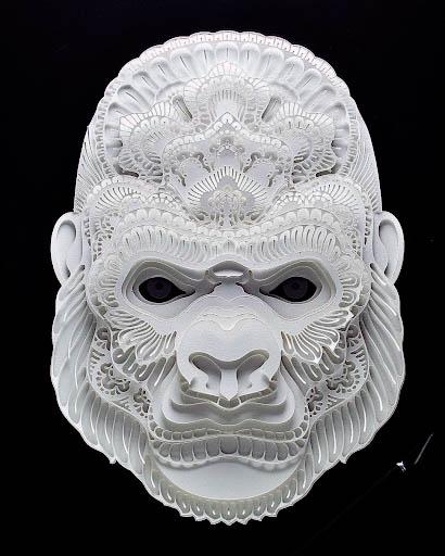 20 paper sculpture art monkey patrick cabral