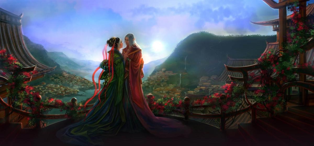 fantasy digital art endless path anndr kusuriuri