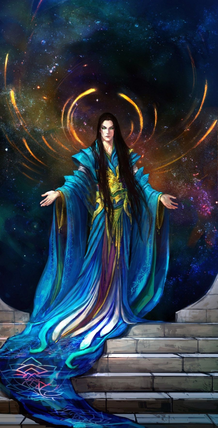 fantasy digital art fantasy digital art blue lady anndr kusuriuri