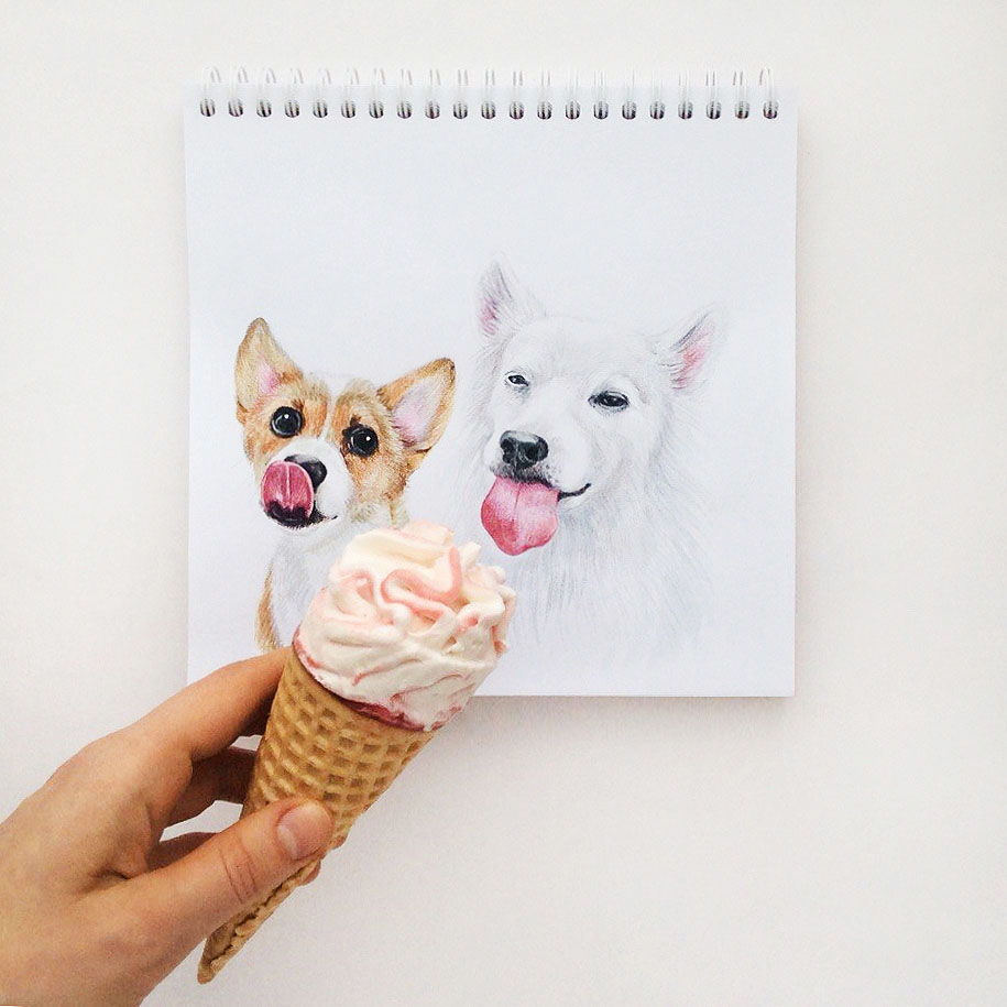 12 funny dog interactive drawing by valerie susik