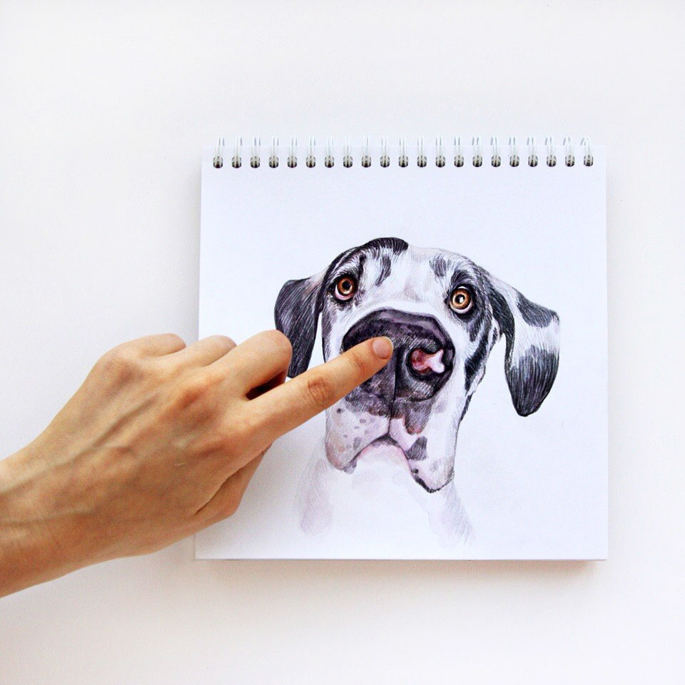 funny dog drawing by valerie susik