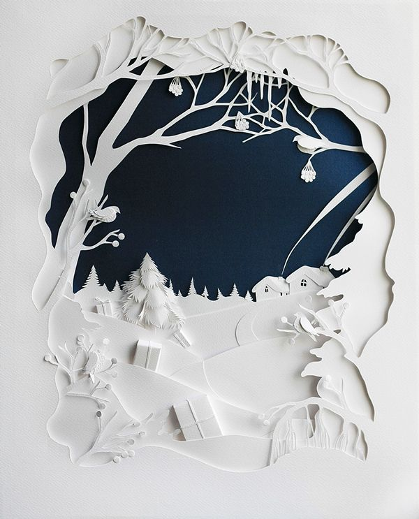paper art by marina adamova