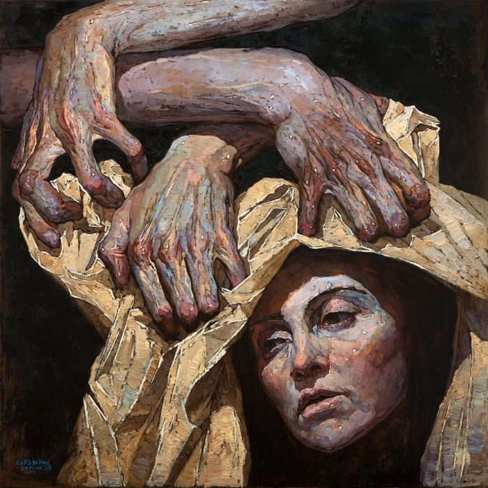painting bold face denis sarazhin