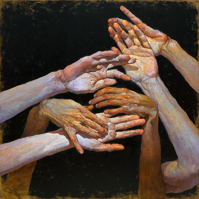 10 painting hands denis sarazhin