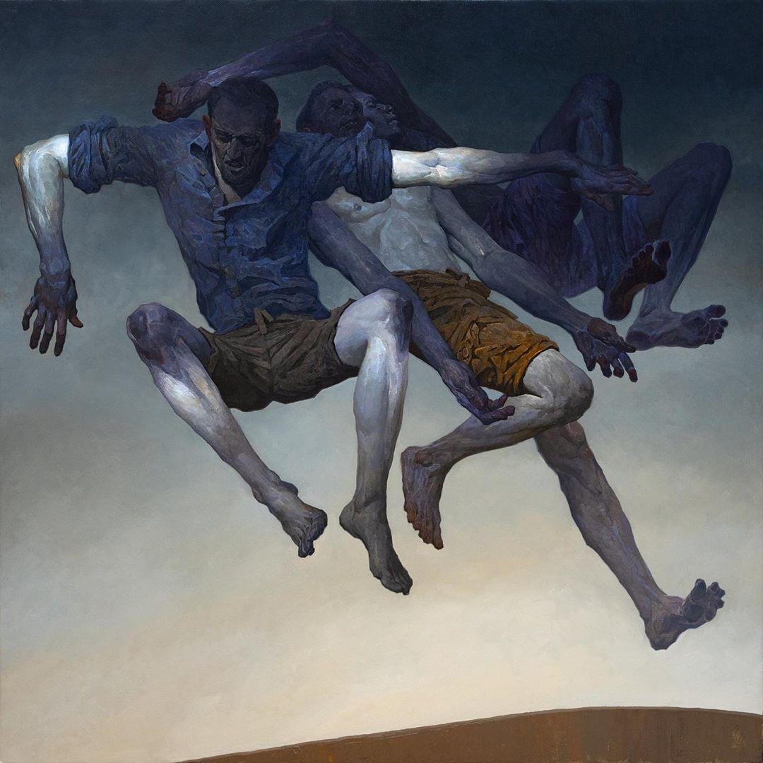 painting jump denis sarazhin