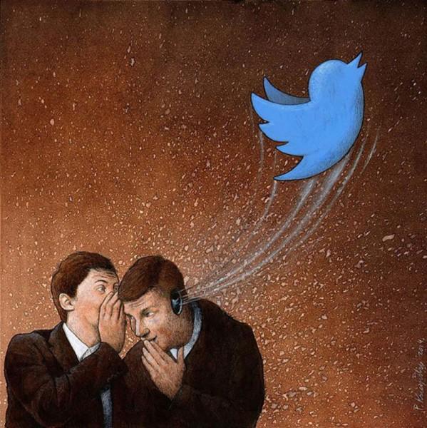 meaningful illustration satirical art gossip john holcroft