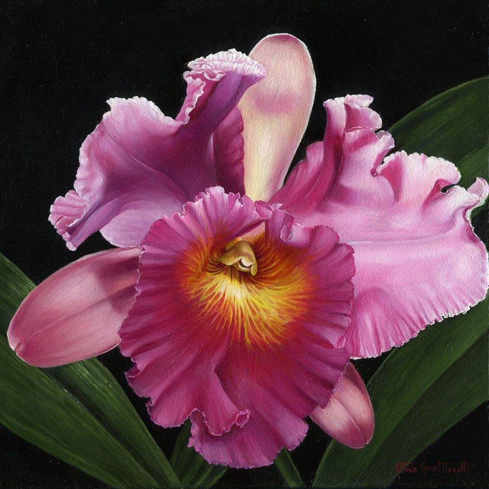3 oil painting flower elena gualtierotti