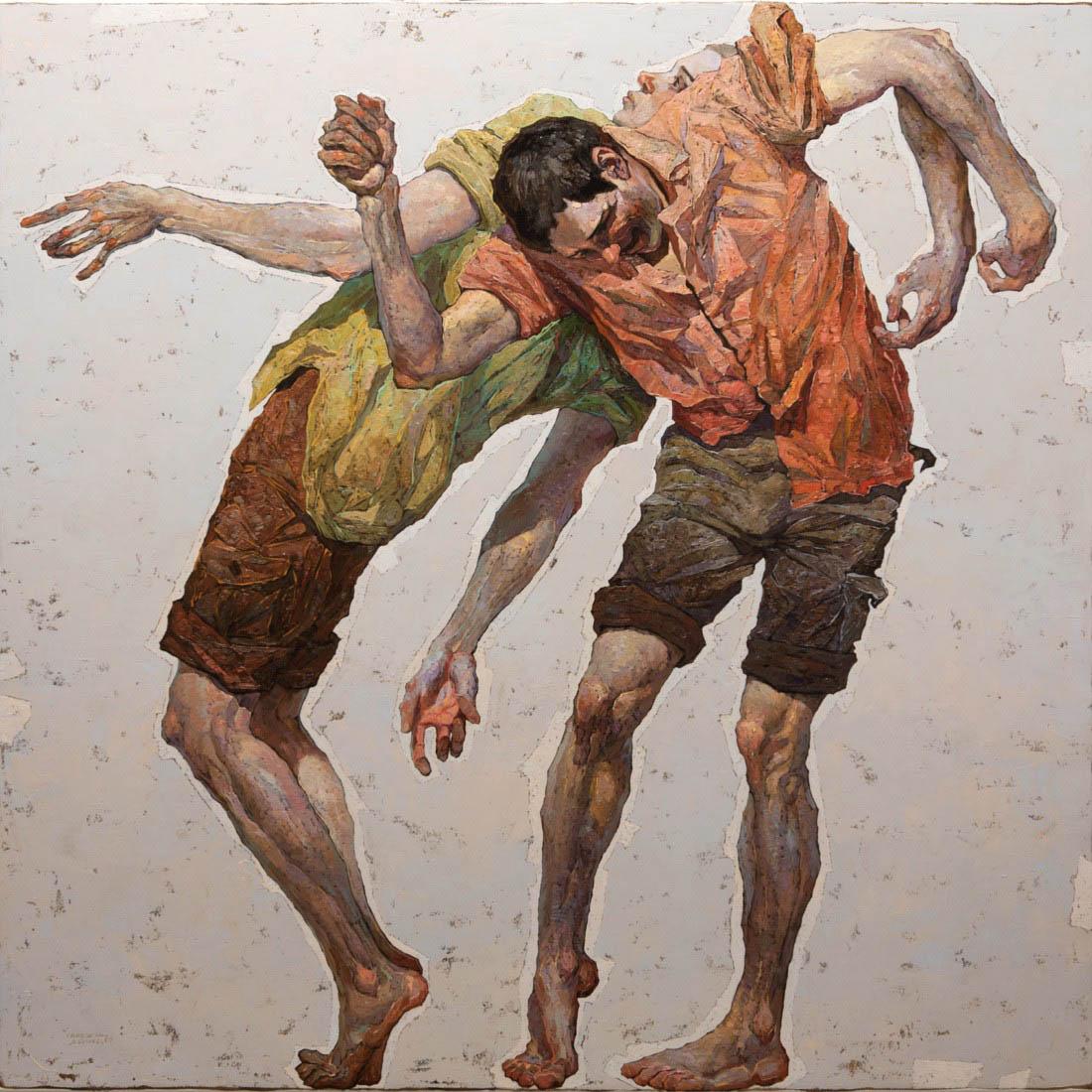 painting fight denis sarazhin