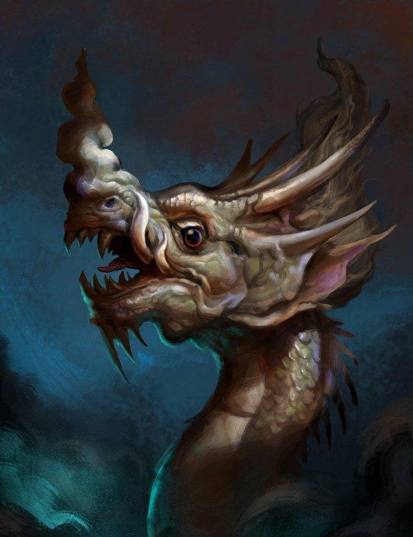 digital art dragon by le long