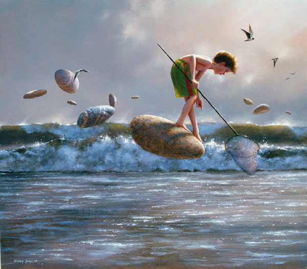 3 acrylic paintings by jimmy lawlor