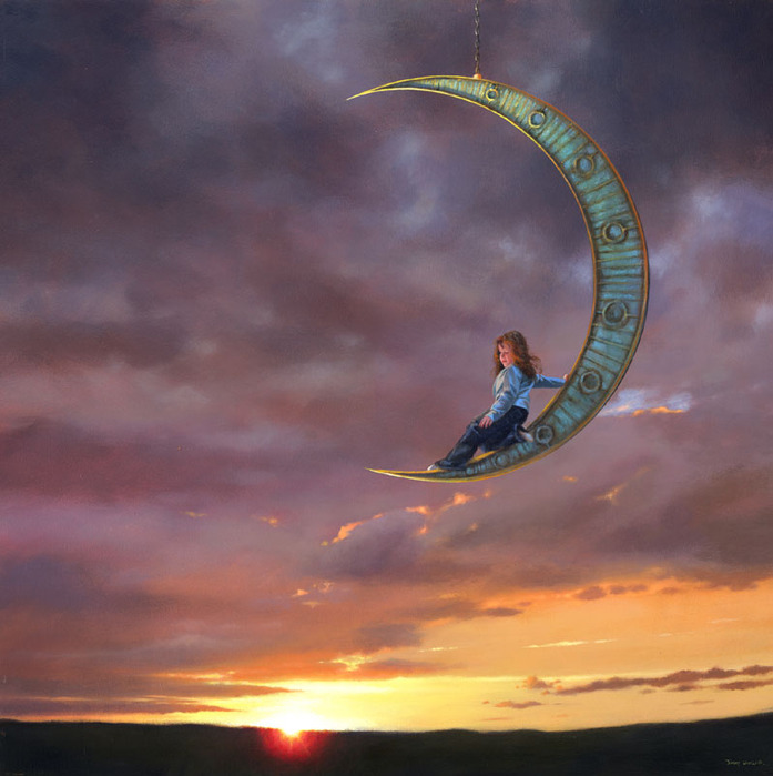 8 acrylic paintings by jimmy lawlor
