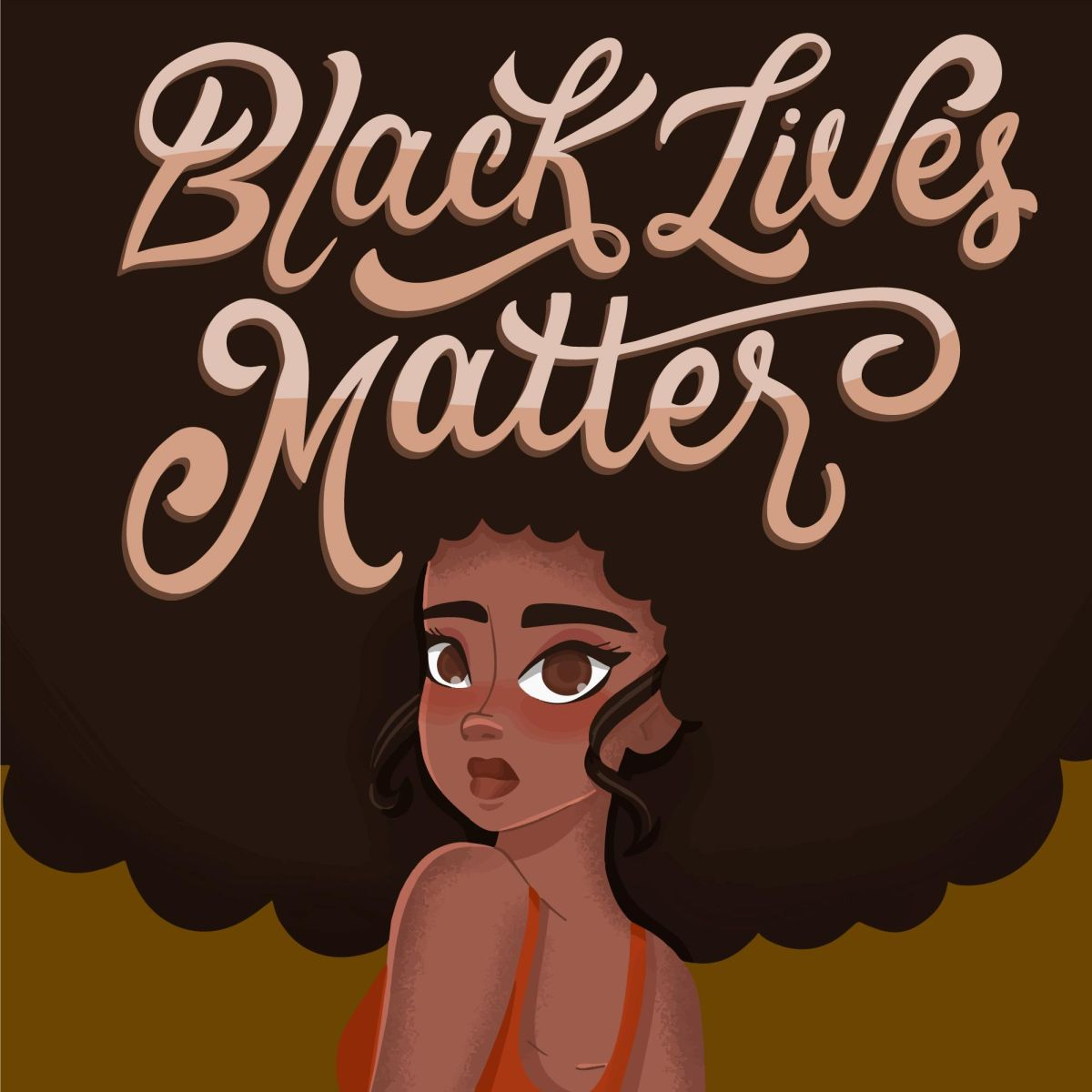 vector illustration digital poster black lives matters pikisuperstar