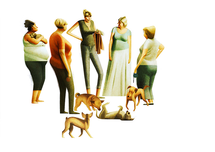 creative artwork illustration dogs peoples by sukanto debnath