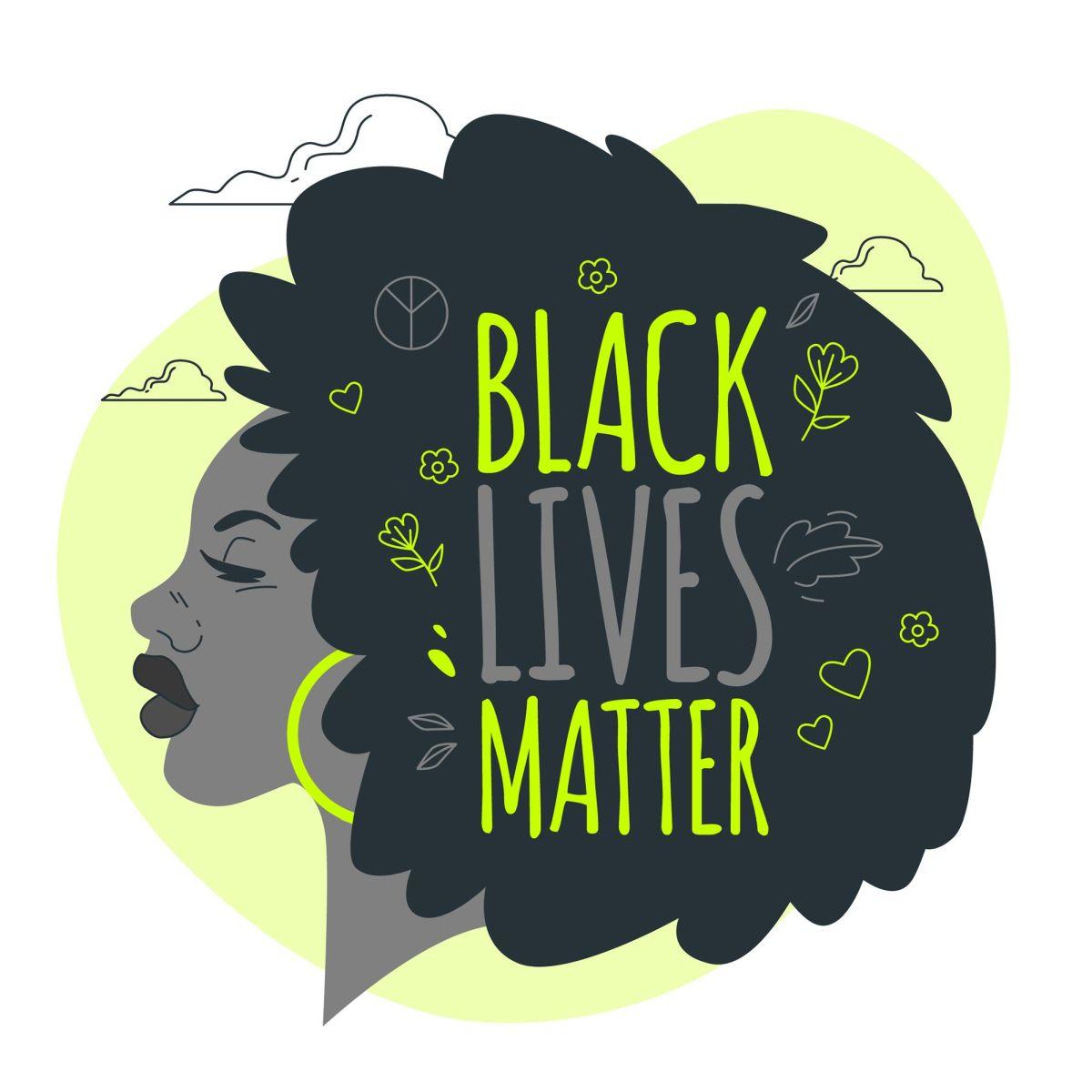 vector illustration digital poster black lives matter stories