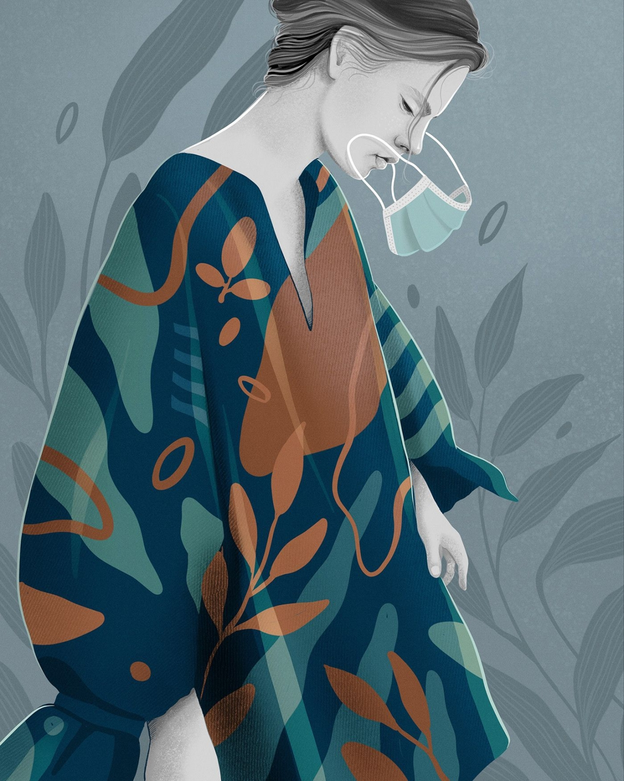 digital illustration fall mask shahul hameed