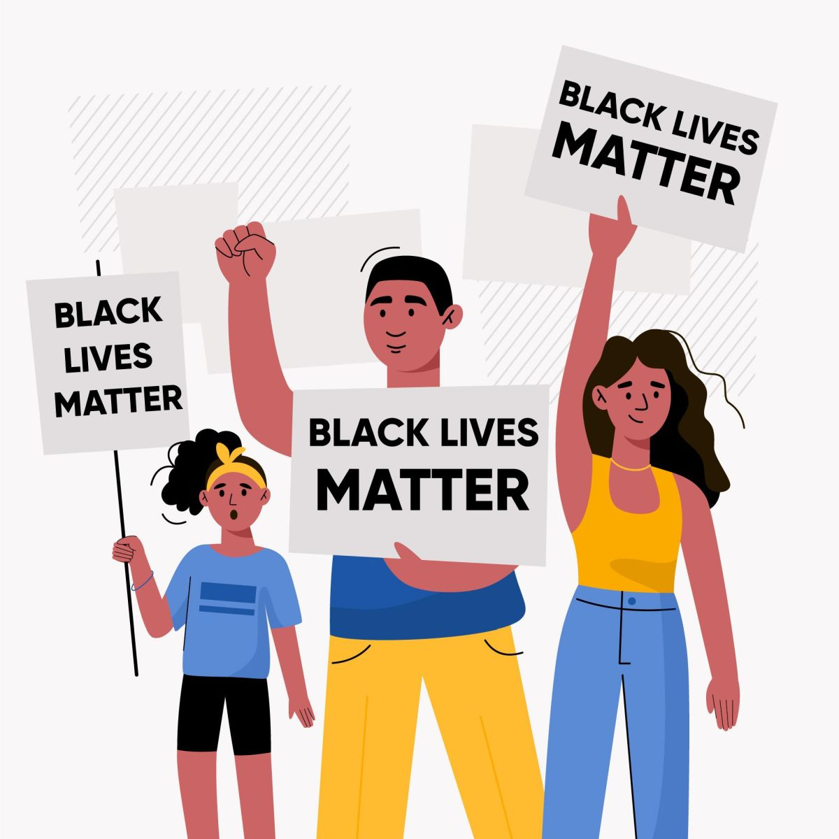 vector illustration digital poster black lives matter freepik