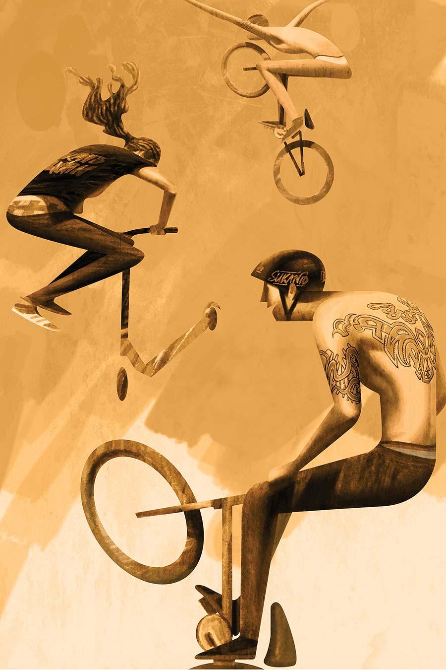 creative artwork illustration cyclic by sukanto debnath