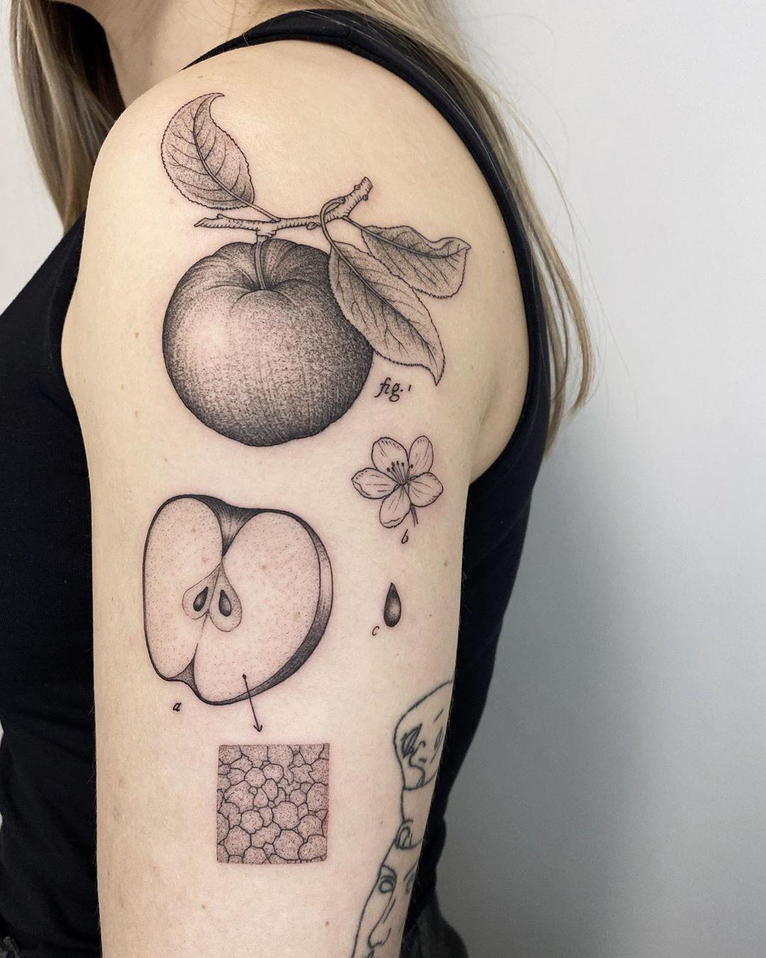 tattoo dot work tattoo dot work apple michele volpi