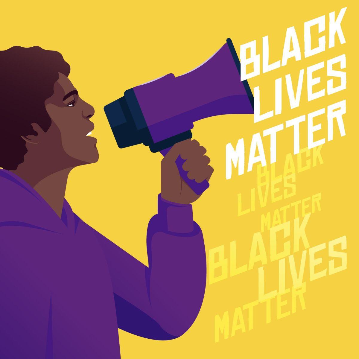 vector illustration digital poster stop black lives matter pikisuperstar