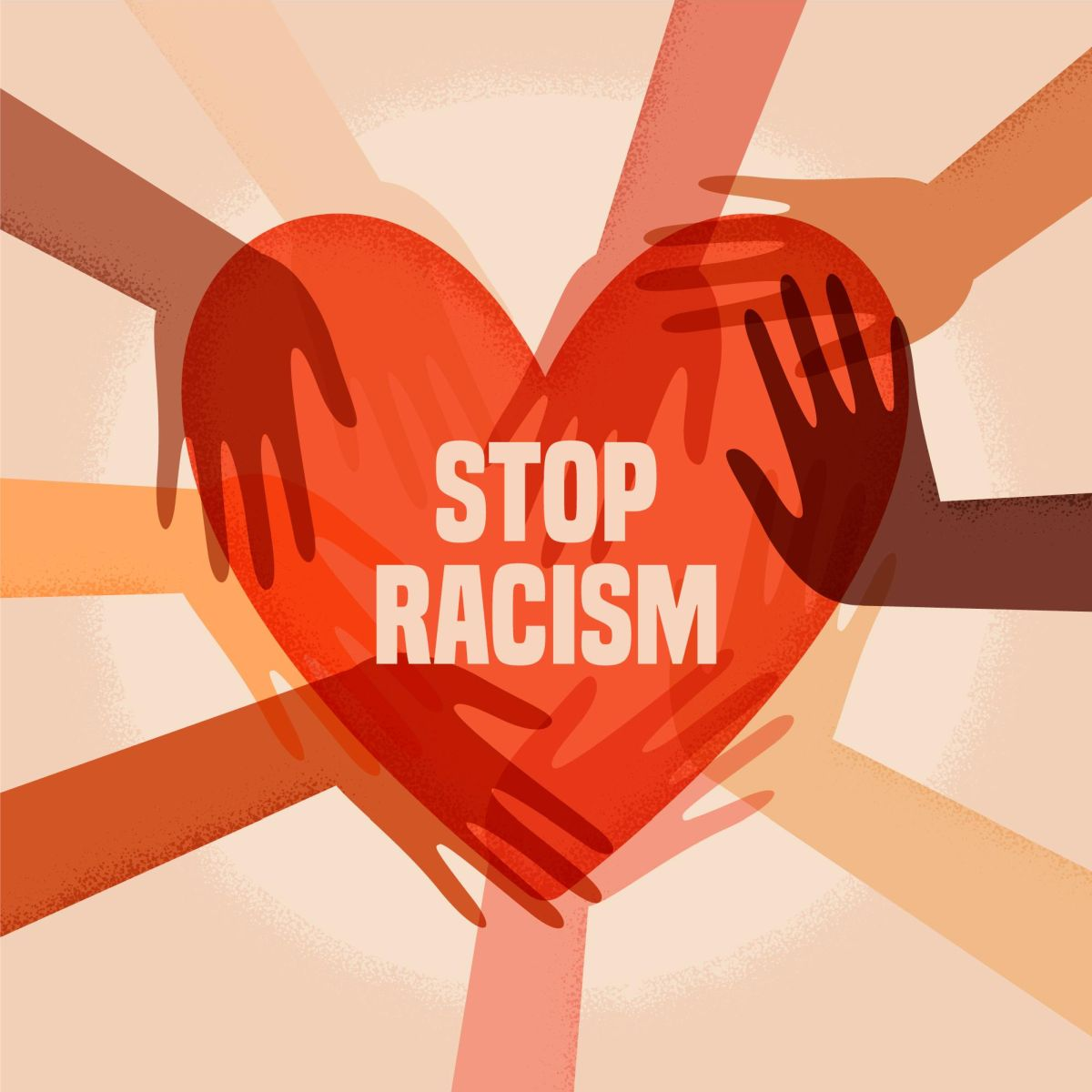 vector illustration digital poster stop racism pikisuperstar