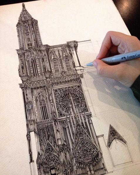 pen drawing by emi nakajima