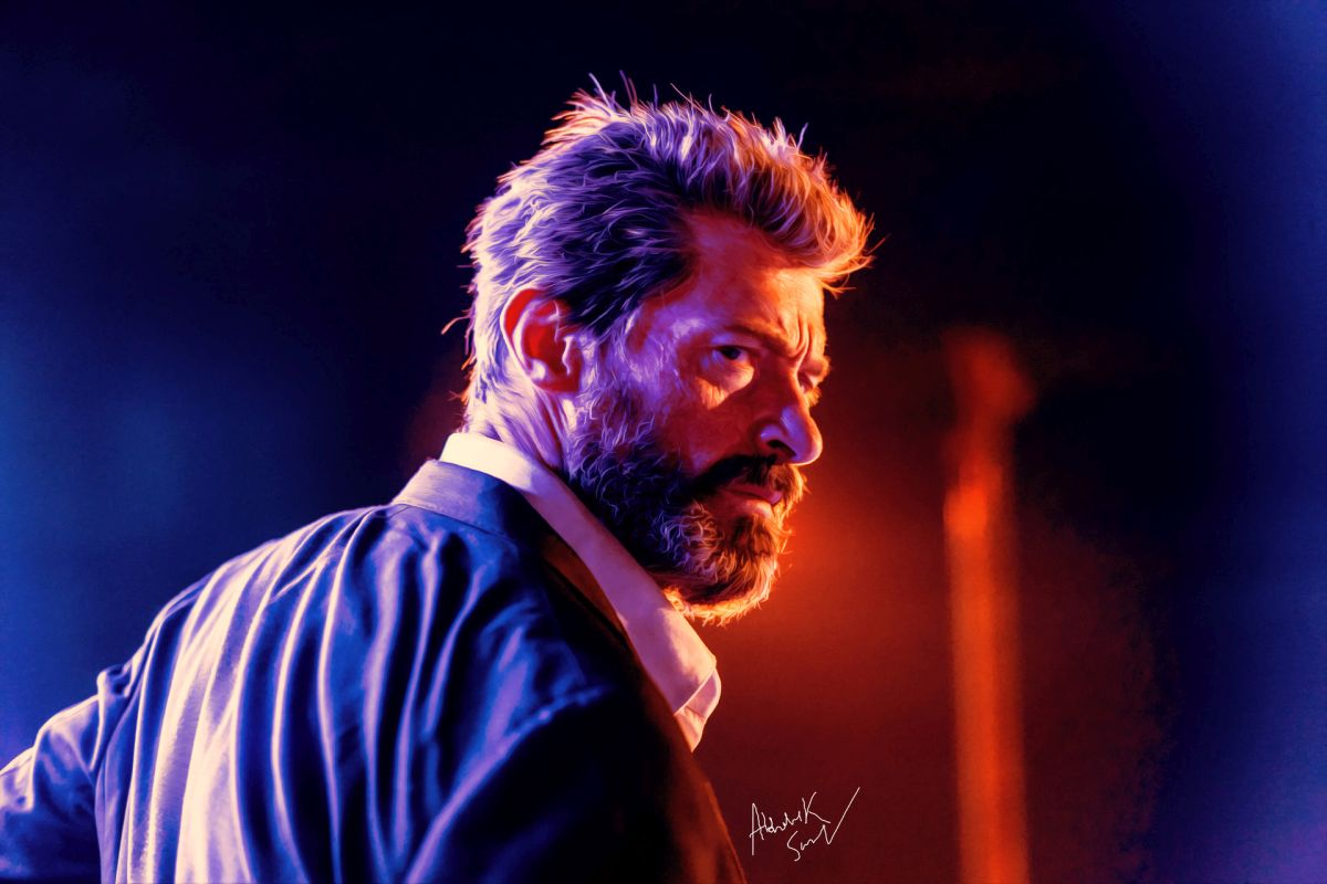 digital painting celebrity portrait hugh jackman by abhishek samal