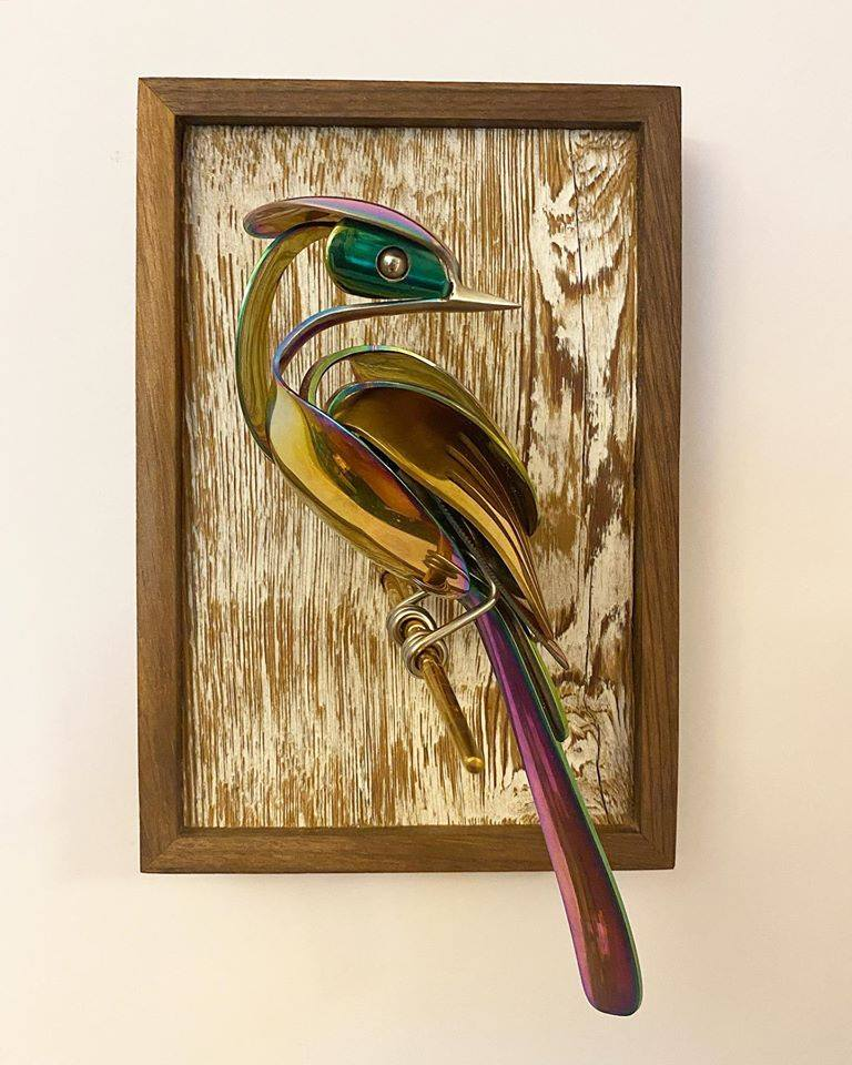 1 scrap metal sculpture bird by matt wilson